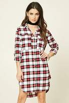 Forever 21 Plaid Flannel Shirt Dress