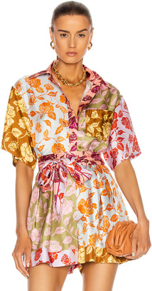 Zimmermann Lovestruck Spliced Shirt in Mixed Roses | FWRD