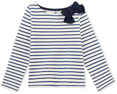 Petit Bateau Girls sailor shirt in Lurex