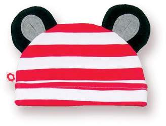 Olive & Moss Perry The Panda - pan3-hat - Hat - Black/White/Red - 12-24 Months