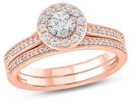 Cali Trove 1/2 cttw Diamond Bridal Set in 10Kt White/Yellow/Rose Gold