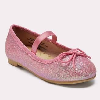 Cat & Jack Toddler Girls' Lily Glitter Ballet Flats