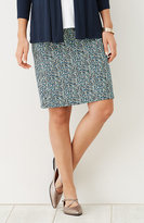 J. Jill Wearever Smooth-Fit Print Panel Skirt