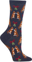 Hot Sox Women's Mistletoe Cat Socks