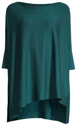 Eileen Fisher Bateau-Neck Three-Quarter Sleeve Top