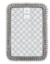 """Luxe Collection Light Gray Jeweled 4"""" x 6"""" Frame"""