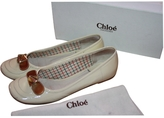 Chloé White Patent leather Ballet flats