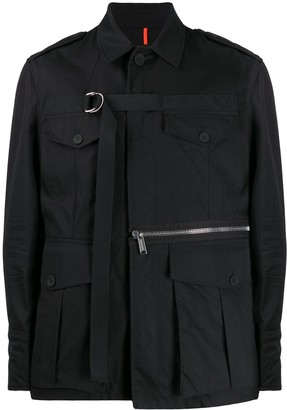 DSQUARED2 D-ring strap military jacket