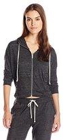 Alternative Women's Eco Jersey Cropped Zippered Sweatshirt