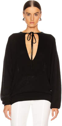 KHAITE Emma Sweater in Black | FWRD