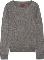 Missoni Metallic Crochet-knit Sweater - Silver