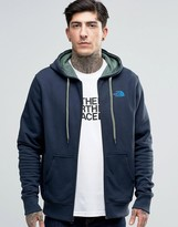 The North Face Zip Up Hoodie With TNF Logo In Navy