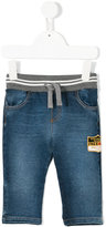 Dolce & Gabbana ribbed waistband jeans