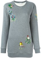 RED Valentino sequin-embroidered sweatshirt - women - Cotton/Polyamide - XS
