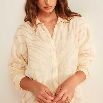 James Perse Spiral Dye Linen Shirt Dress