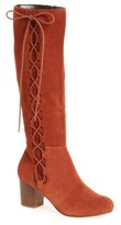 Sole Society Women's Arabella Knee High Lace-Up Boot