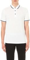 Emporio Armani tipped cotton-piqué polo shirt