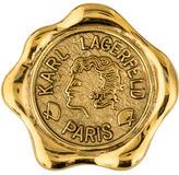 Karl Lagerfeld Wax Stamp Brooch