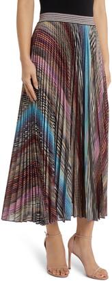Missoni Metallic Stripe Pleated Skirt