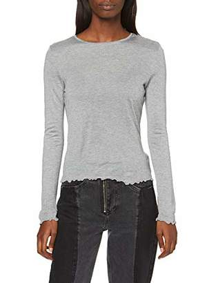 Only Women's Slfmuni Ls Knit V-Neck B Long Sleeve Top,14 (Size: Large)
