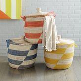 west elm Alternating Stripes Oversized Baskets