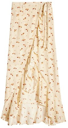 WeWoreWhat Floral Asymmetrical Coverup Skirt