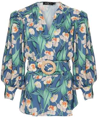 PatBO Floral Belted Wrap Top