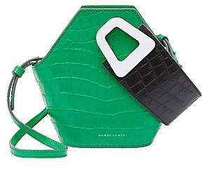 Danse Lente Women's Extra-Small Johnny Geometric Croc-Embossed Leather Bucket Bag