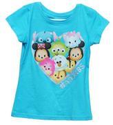 Disney Tsum Tsum Girl`s Character T-Shirt