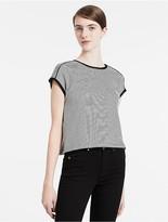 Calvin Klein Cropped Stripe T-Shirt