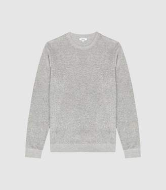 Reiss Fred - Long Sleeved Towelling Crew in Grey