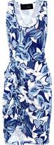 Thakoon Addition Draped printed jersey dress