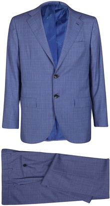 Kiton Blue Wool Two-piece Suit
