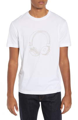 French Connection Headphones Regular Fit Cotton T-Shirt