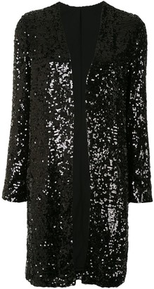 Sally LaPointe Sequin Duster Coat