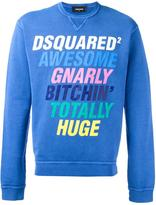 DSQUARED2 slogan crew neck sweatshirt - men - Cotton - L
