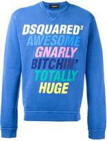 DSQUARED2 slogan crew neck sweatshirt
