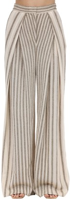 Missoni High Waist Wide Leg Viscose Blend Pants