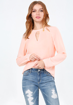 Bebe Cutout Neck Top