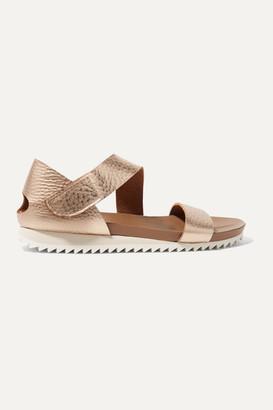 Pedro Garcia Jedda Metallic Textured-leather Sandals - Pink