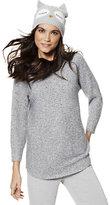 New York & Co. Marled Shirttail Dolman Sweater