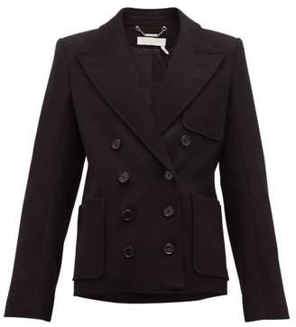 Chloé Double-breasted Peak-lapel Wool-blend Jacket - Womens - Black
