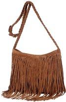 jasmine214 Retro Women's Leather Cross-body Handbag Fringe Shoulder Bag Suede Tassel Purse