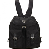 Prada Black Synthetic Backpack