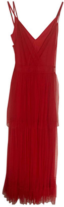 STAUD Red Lace Dresses