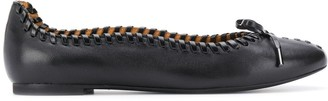 See by Chloe Lace-Up Trim Ballerina Shoes