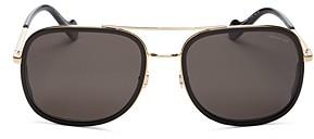 Moncler Men's Polarized Brow Bar Square Sunglasses, 61mm