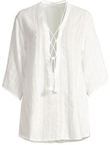 Robin Piccone Michelle Lace-Up Tunic