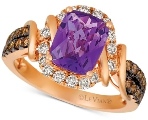 LeVian Le Vian Le Vian Nude Grape Amethyst (1-3/4 ct. t.w.) & Diamond (5/8 ct. t.w.) Ring in 14k Rose Gold
