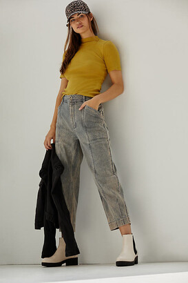 Pilcro And The Letterpress Pilcro Ultra High-Rise Seamed Straight Jeans By in Grey Size 25